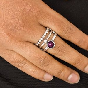 Summer Retreat - Purple Stretchy Ring